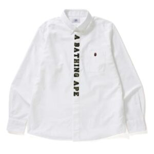 BAPE 1st Camo Applique Oxford Bd Shirt Shirt White