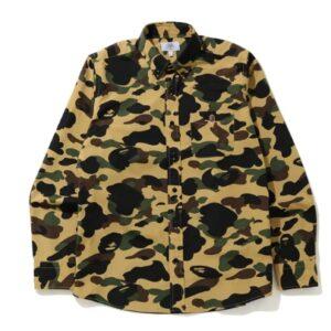BAPE 1st Camo BD LS Shirt Yellow