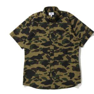 BAPE 1st Camo BD SS Shirt Green