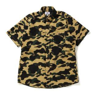 BAPE 1st Camo BD SS Shirt Yellow