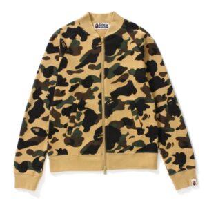 BAPE 1st Camo Front Zip Sweatshirt Ladies Yellow