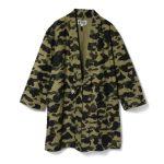 BAPE 1st Camo Kimono Long Shirt Green