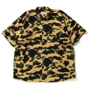 BAPE 1st Camo Wide SS Shirt Yellow