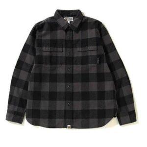 BAPE Block Check Big Logo Shirt Black 1