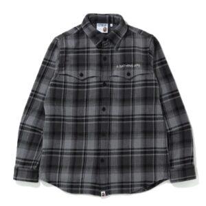 BAPE Check Flannel Shirt Black
