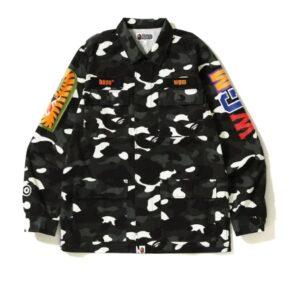 BAPE City Camo Shark Army Shirt Black