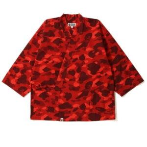 BAPE Color Camo Kimono Shirt Red 2