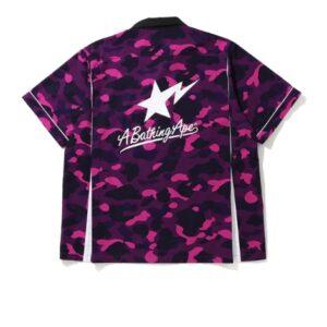 BAPE Color Camo Sta SS Shirt Purple 1
