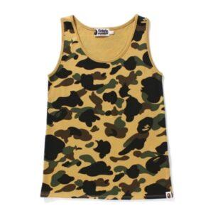 BAPE Ladies 1st Camo Tank Top Yellow