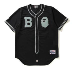 BAPE Majestic Baseball Shirt Shirt Black
