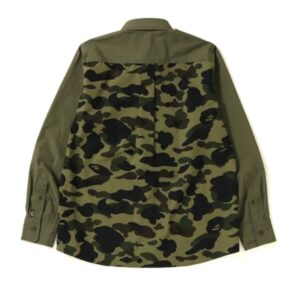 BAPE Shark BD Shirt Olive 1