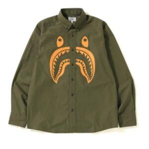 BAPE Shark BD Shirt Olive