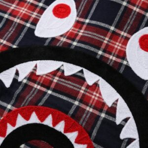 BAPE Shark Flannel Check Shirt FW19 Red 2