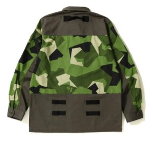 BAPE Splinter Camo Military Shirt Olive 1