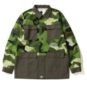 BAPE Splinter Camo Military Shirt Olive