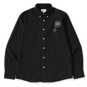 BAPE x DSMG Oxford BD Shirt Black