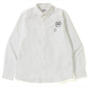 BAPE x DSMG Oxford BD Shirt White