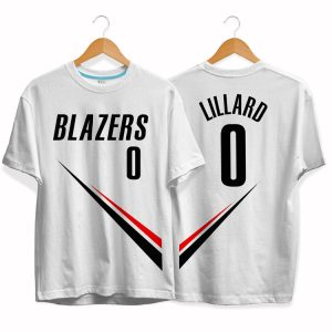 Blazers 0 Damian Lillard tee by slamdunk 1
