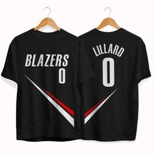 Blazers 0 Damian Lillard tee by slamdunk
