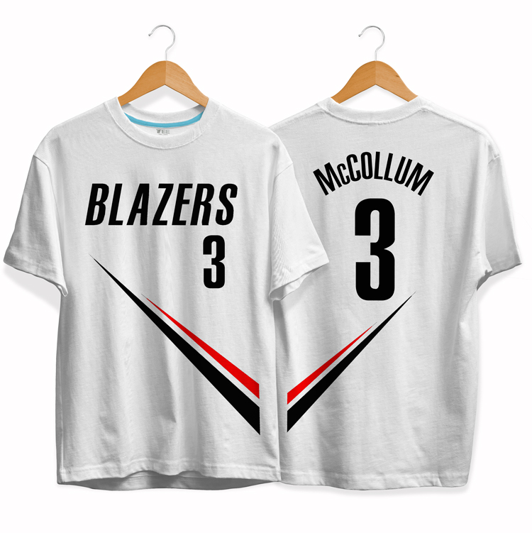 Blazers 3 CJ McCollum tee by slamdunk 1