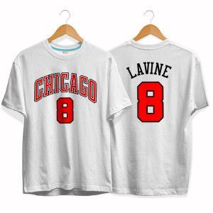 Chicago Bulls 8 Zach LaVine tee by slamdunk 1