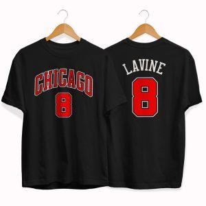 Chicago Bulls 8 Zach LaVine tee by slamdunk