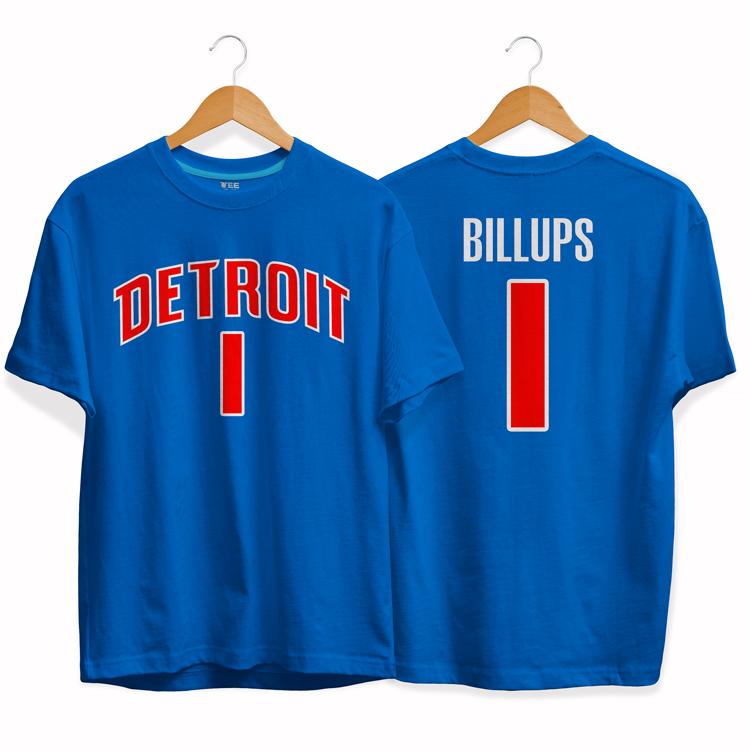 Detroit Pistons 1 Chauncey Billups tee by slamdunk 2