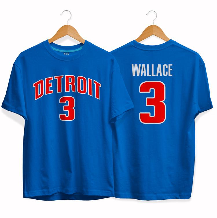 Detroit Pistons 3 Ben Wallace tee by slamdunk 2