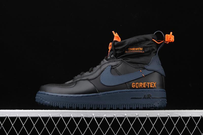 Gore Tex x Nike Air Force 1 Winter Black Bright Ceramic Thunder Blue 1