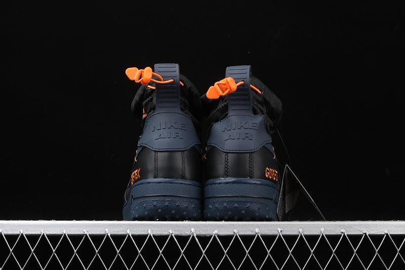 Gore Tex x Nike Air Force 1 Winter Black Bright Ceramic Thunder Blue 4