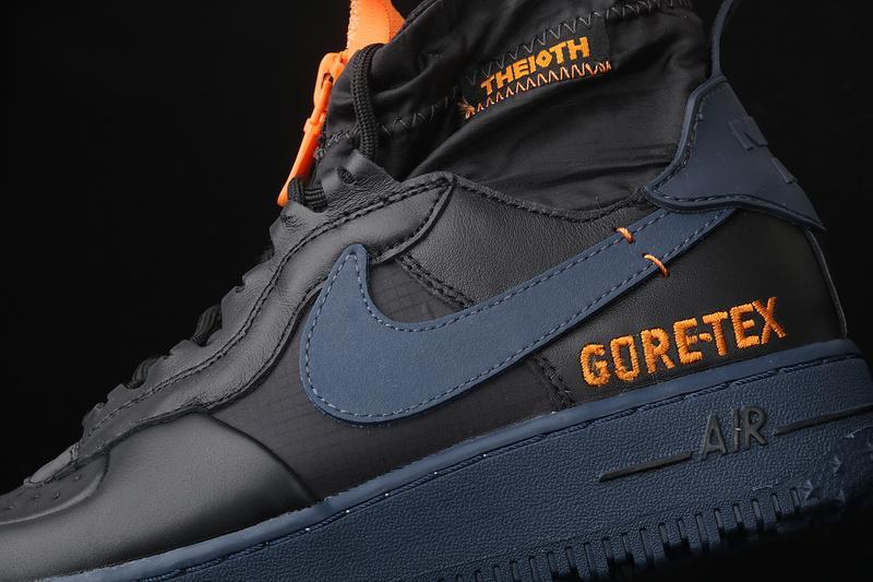 Gore Tex x Nike Air Force 1 Winter Black Bright Ceramic Thunder Blue 7