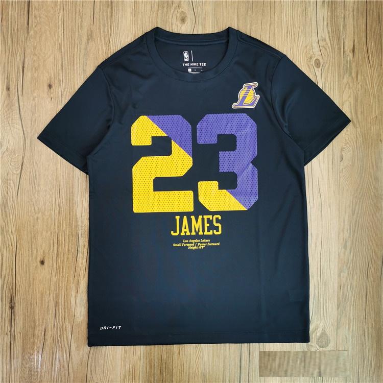 LeBron James 23 Lakers Navy Tee