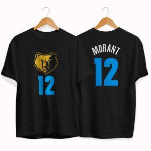 Memphis Grizzlies 12 Ja Morant black tee by slamdunk