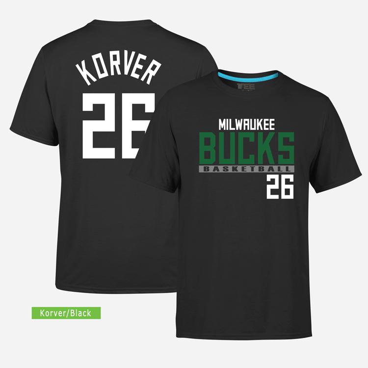 Milwaukee Bucks 26 Kyle Korver. Tee by Slamdunk 1