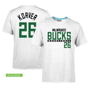 Milwaukee Bucks 26 Kyle Korver. Tee by Slamdunk