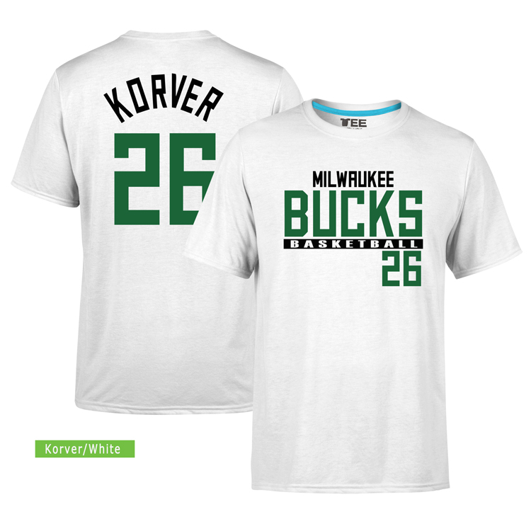 Milwaukee Bucks 26 Kyle Korver. Tee by Slamdunk