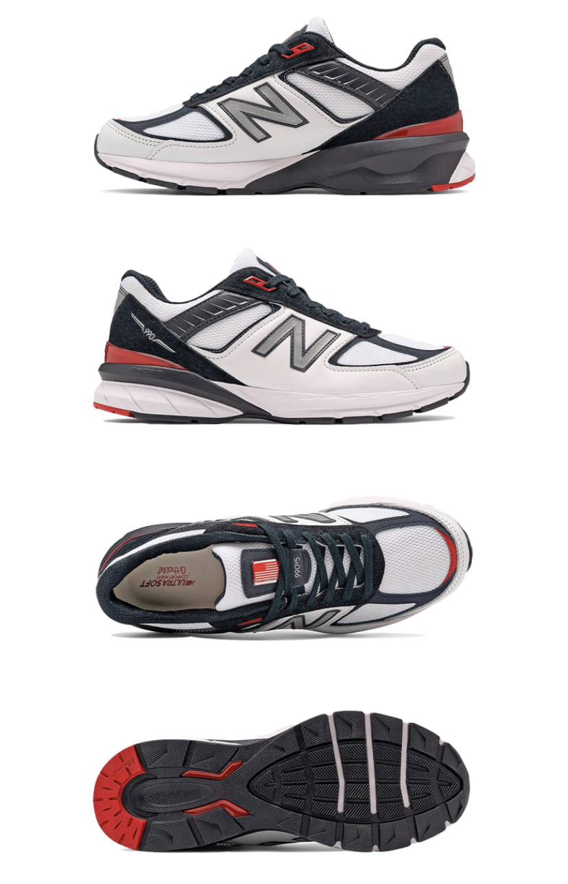 New Balance 990v5 Carbon Team Red 3