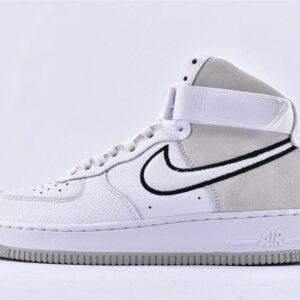 Nike Air Force 1 High White Vast Grey Black 1