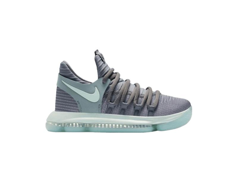 Nike KD 10 Cool Grey Igloo GS