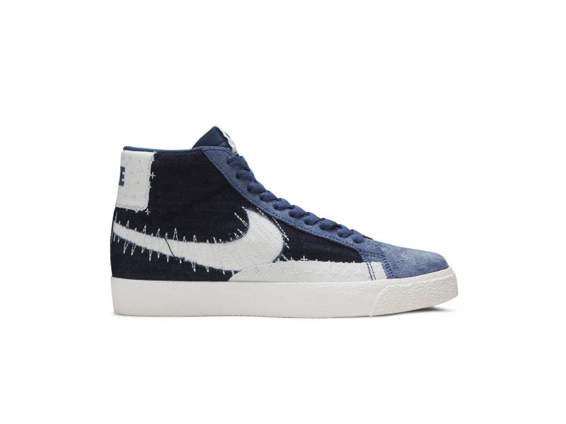 Nike SB Zoom Blazer Mid Sashiko Mystic Navy