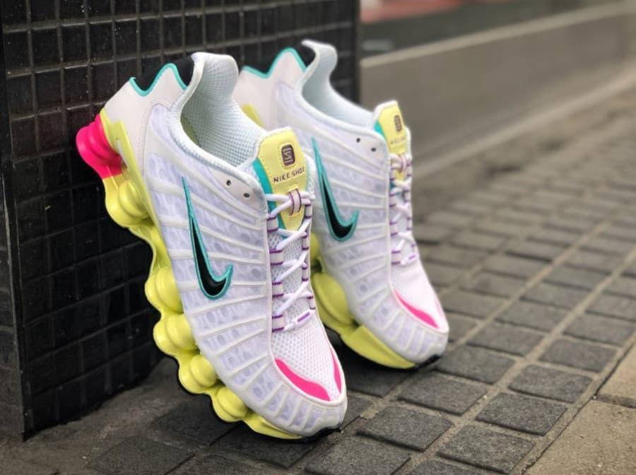 Nike Shox TL White Multi Color W 1