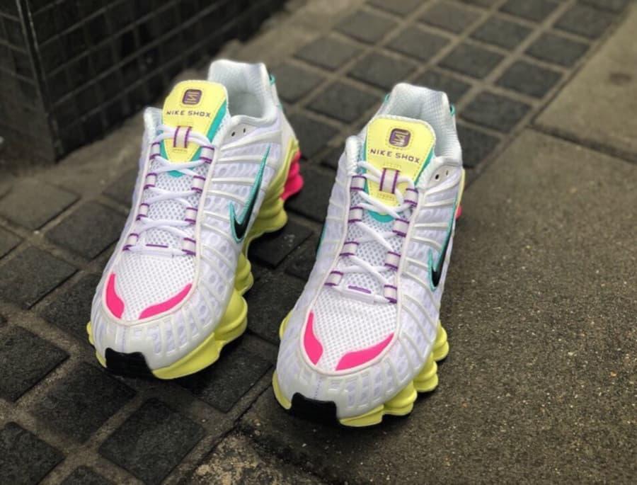 Nike Shox TL White Multi Color W 2