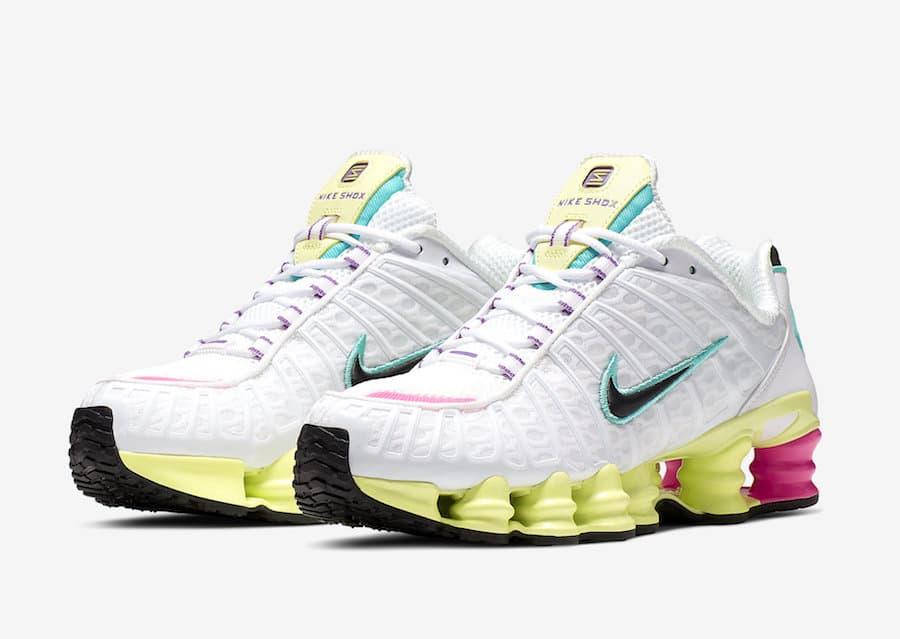 Nike Shox TL White Multi Color W 4