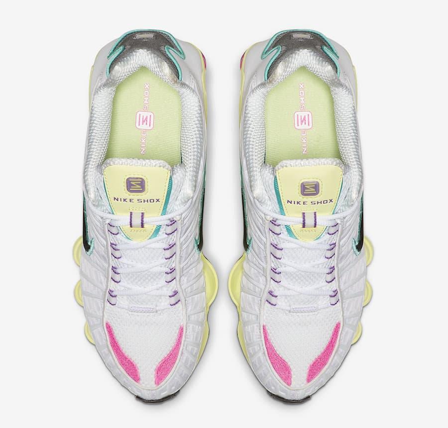Nike Shox TL White Multi Color W 5