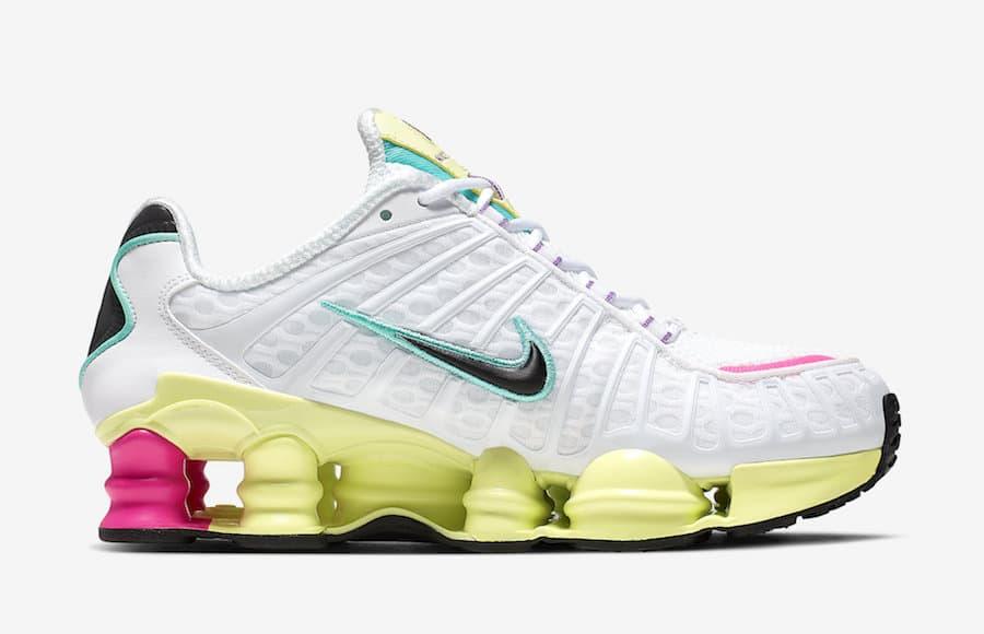 Nike Shox TL White Multi Color W 6