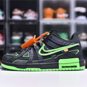 Off White x Nike Air Rubber Dunk Green Strike 1