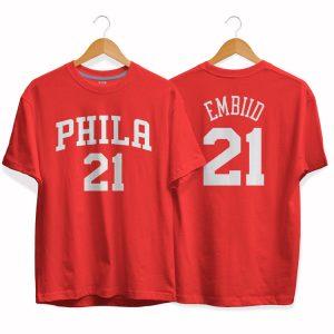 Philadelphia 76ers 21 Joel Embiid tee by slamdunk 2