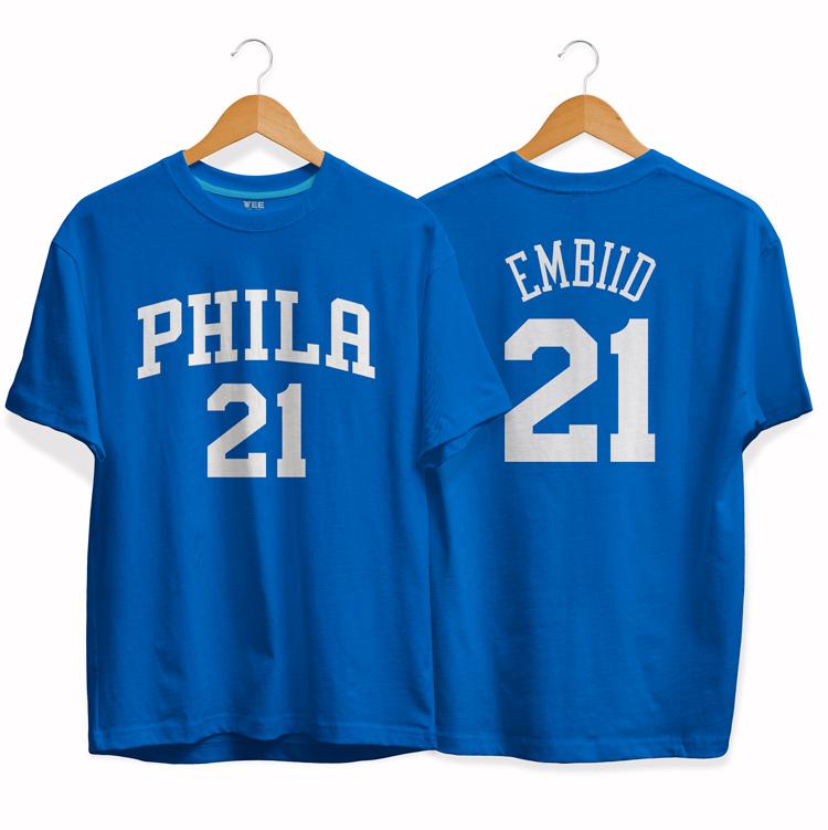 Philadelphia 76ers 21 Joel Embiid tee by slamdunk