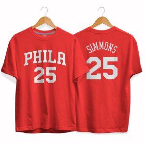 Philadelphia 76ers 25 Ben Simmons tee by slamdunk 2