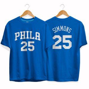 Philadelphia 76ers 25 Ben Simmons tee by slamdunk